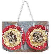 Sardines And Spaghetti Weekender Tote Bag by Tom Gowanlock