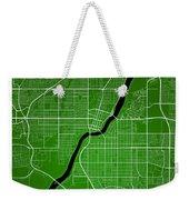 Saskatoon Street Map - Saskatoon Canada Road Map Art On Colored  Weekender Tote Bag
