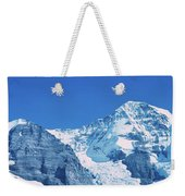 Scenic View Of Eiger And Monch Mountain Weekender Tote Bag