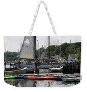 Schooner Camden Harbor - Maine Weekender Tote Bag