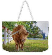 Scottish Highlander Ox Weekender Tote Bag