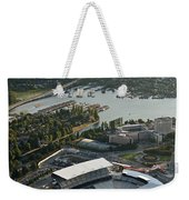 Seattle Skyline With Aerial View Of The Newly Renovated Husky St Weekender Tote Bag