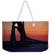 Sidney Lanier Bridge At Sunset Weekender Tote Bag