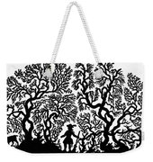 Silhouette, 19th Century Weekender Tote Bag
