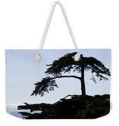 Silhouette Of Monterey Cypress Tree Weekender Tote Bag