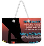 Silhouette Photographer Faux Magazine Cover Weekender Tote Bag