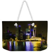 Singapore Skyline As Seen From The Pedestrian Bridge Weekender Tote Bag