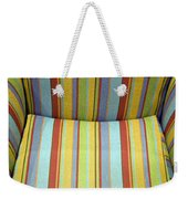 Sitting On Stripes Weekender Tote Bag