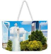 Skyline Of A Modern City - Charlotte North Carolina Usa Weekender Tote Bag