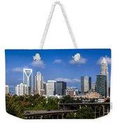 Skyline Of Uptown Charlotte North Carolina. Weekender Tote Bag by Alex Grichenko