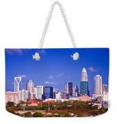 Skyline Of Uptown Charlotte North Carolina At Night Weekender Tote Bag
