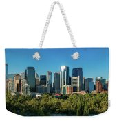 Skylines In A City, Bow River, Calgary Weekender Tote Bag