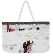 Sled Dog Weekender Tote Bag