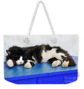 Sleeping Cat In Sifnos Island Weekender Tote Bag