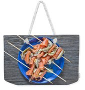 Smoked Salmon And Grilled Artichoke Weekender Tote Bag