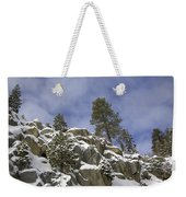 Snow Covered Cliffs And Trees II Weekender Tote Bag