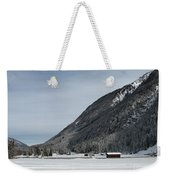 Snowy Meadow Weekender Tote Bag