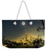 Solar Eclipse Composite, Queensland Weekender Tote Bag by Philip Hart