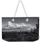 Sonoran Desert In Black And White  Weekender Tote Bag