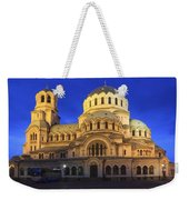 St Alexander Nevsky Cathedral At Dusk Sofia Bulgaria Weekender Tote Bag