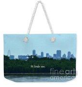 St Louis From Chain Of Rocks Bridge Weekender Tote Bag