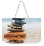 Stack Of Beach Stones On Sand Weekender Tote Bag