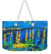 Starry Night Bridge Weekender Tote Bag