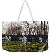 Statues Of Soldiers At A War Memorial Weekender Tote Bag