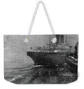Steamship Accident, 1914 Weekender Tote Bag
