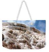 Steamy Mammoth Hot Springs Weekender Tote Bag