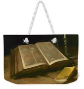 Still Life With Bible Weekender Tote Bag