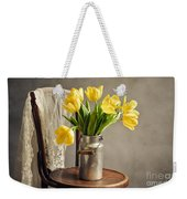 Still Life With Yellow Tulips Weekender Tote Bag