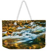 Stream Fall Colors Great Smoky Mountains Painted  Weekender Tote Bag