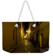 Street Alley By Night Weekender Tote Bag