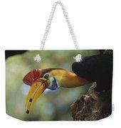 Sulawesi Red-knobbed Hornbill Male Weekender Tote Bag
