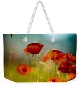 Summer Poppy Weekender Tote Bag