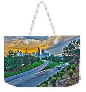 Sun Setting Over Charlotte North Carolina A Major Metropolitan C Weekender Tote Bag