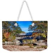 Sunday River Covered Bridge Weekender Tote Bag