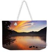 Sunrise Over An Alpine Lake Weekender Tote Bag