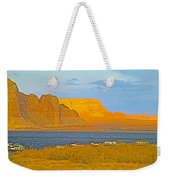 Sunset Glow Over Wahweap Bay In Lake Powell In Glen Canyon National Recreation Area-arizona Weekender Tote Bag