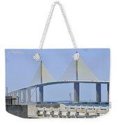 Sunshine Skyway Bridge I Tampa Bay Florida Usa Weekender Tote Bag