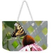 Tiger Swallowtail On Coneflower Weekender Tote Bag