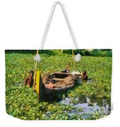 Taking Mud From The Bottom Of The Canal Weekender Tote Bag