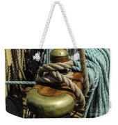 Tall Ship Rigging Weekender Tote Bag