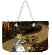 Tammy Meets Cedric The Mongoose Weekender Tote Bag