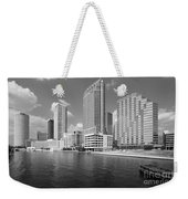 Tampa Skyline From Hillsborough River Weekender Tote Bag