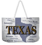 Texas State Pride Map Silhouette  Weekender Tote Bag