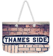 Thames Side Weekender Tote Bag