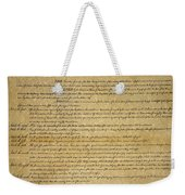 The Bill Of Rights, 1789 Weekender Tote Bag