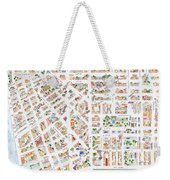 The Greenwich Village Map Weekender Tote Bag